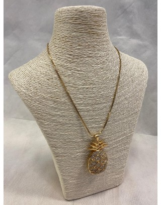 Collier long forme ananas...